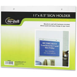 Nudell Plastics Acrylic Sign/Photo/Certificate Holder, Horizontal Wall, 8 1/2w x 11h