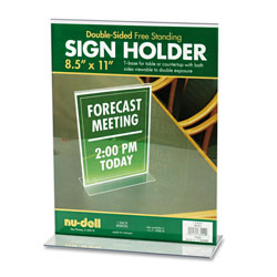 Nudell Plastics Acrylic Sign/Photo/Certificate Holder, T Frame, 8 1/2w x 11h