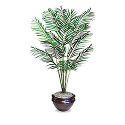 Nudell Plastics Artificial Areca Palm Tree, 12 Leaves, 6 ft. Height