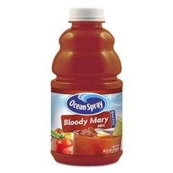 Ocean Spray BarPac Mixers, Bloody Mary, 32 oz Bottle, 12/Carton