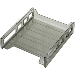 "Officemate Letter Tray, Front Load, 10 1/2""x12 1/2""x2 7/8"", Smoke"