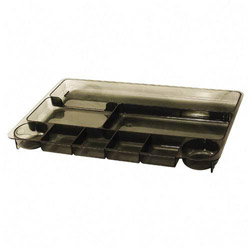 "Officemate Drawer Tray, 9 Compartments, 14""x9""x1 1/8"", Smoke"
