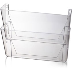 "Officemate Space Saving Filing System, 10.6"" x 13.0"" x 4.1"", Clear Plastic"