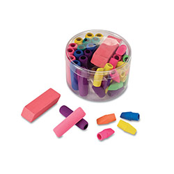 Officemate Eraser Pack, Assorted Colors, 45/Pack