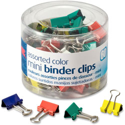 Officemate Mini Binder Clips, Metal, AST