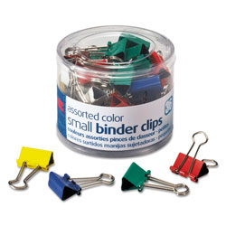 Officemate Binder Clips, Small, Green, White, Yellow, Blue, Red