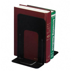 "Officemate Standard Bookends, 5 7/8""x8 3/16""x9"", Black"
