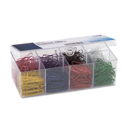 Officemate Plastic Coated Paper Clips, No. 2 Size, Assorted Colors, 800/Pack