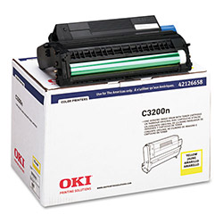 Okidata High Yield Drum Kit/Toner, OKI Type C6 for C3200, 15,000 pgs, Yellow