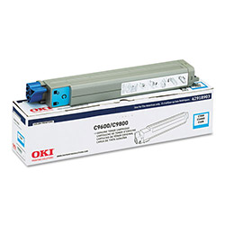 Okidata Type C7 Toner Cartridge for C9600, C9800, Cyan