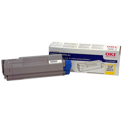 Okidata Laser Toner Cartridge, High Capacity, for C5500/5800, Yellow
