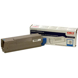 Okidata Laser Toner Cartridge, High Capacity, for C5500/5800, Cyan