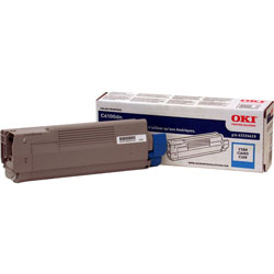 Okidata Laser Toner Cartridge for C6100 Series, Cyan