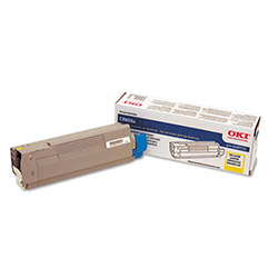 Okidata 43487733 Yellow Toner Cartridge For C8800 Series Digital Printers, 6,000 Pages