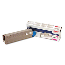 Okidata 43487734 Magenta Toner Cartridge For C8800 Series Digital Printers, 6,000 Pages