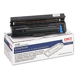 Okidata 43650301 Drum Unit for Use In B2200/B2400 Series, 15K Page Yield, Black