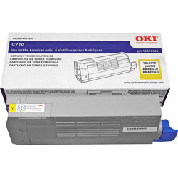 Okidata Toner Cartridge, 11500 Page Yield, Yellow