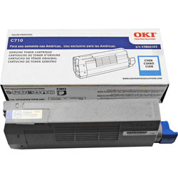 Okidata Toner Cartridge, 11500 Page Yield, Cyan