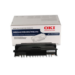 Okidata Toner Cartridge, Std, 3k, MB260/280MFP, Black