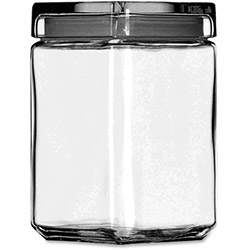 Anchor Hocking Glass Stackable Jar, 1-1/2 Quart, Clear