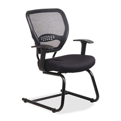 Office Star Space Air Grid Series Guest Chair, Black, 26 1/2w x 26 1/2h x 37 1/4h