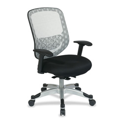 "Office Star Duragrid Back/Padded Mesh Seat Chair, 27-1/2"" x 22-1/4"" x 45"", WE"