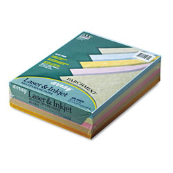 "Riverside Paper Asstd Parchment Colored Bond Paper, 8 1/2"" x 11"", 24 lb."