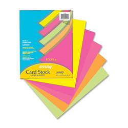 "Riverside Paper Card Stock Paper, hyper, 65 Lb, 8 /2"" x 11"", 100/ Pack, assorted"