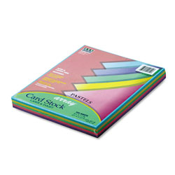 "Riverside Paper 65 lb. Card Stock, 8 1/2"" x 11"", Assorted Pastel Colors"