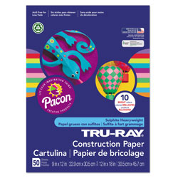 "Riverside Paper Bright Construction Paper, 12"" x 18"", 10 Assorted Colors"