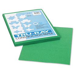 Riverside Paper Construction Paper, 76 lbs., 9 x 12, Holiday Green, 50 Sheets/Pack