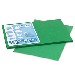 Riverside Paper Construction Paper, 76 lbs., 12 x 18, Holiday Green, 50 Sheets/Pack