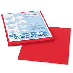 Riverside Paper Construction Paper, 76 lbs., 9 x 12, Holiday Red, 50 Sheets/Pack