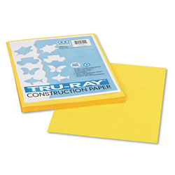 "Riverside Paper Construction Paper, 9"" x 12"" Sheets, Yellow"