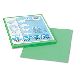 "Riverside Paper Construction Paper, 9"" x 12"" Sheets, Festive Green"