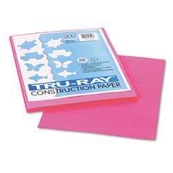 Riverside Paper Construction Paper, 76 lbs., 9 x 12, Shocking Pink, 50 Sheets/Pack