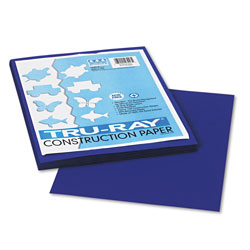 Riverside Paper Construction Paper, 76 lbs., 9 x 12, Royal Blue, 50 Sheets/Pack