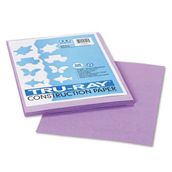 Riverside Paper Construction Paper, 76 lbs., 9 x 12, Lilac, 50 Sheets/Pack