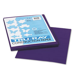 Riverside Paper Construction Paper, 76 lbs., 9 x 12, Purple, 50 Sheets/Pack