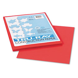 Riverside Paper Construction Paper, 76 lbs., 9 x 12, Red, 50 Sheets/Pack