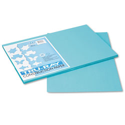 Riverside Paper Construction Paper, Sulphite, 12 x 18,Turquoise, 50 Sheets