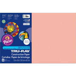 Pacon Construction Paper, 12 x 18, Salmon, 50 Sheets