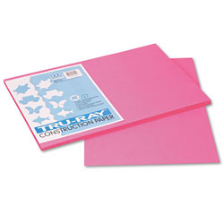 Riverside Paper Construction Paper, Sulphite, 12 x 18, Hot Pink, 50 Sheets