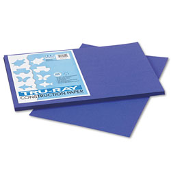 Riverside Paper Construction Paper, 76 lbs., 12 x 18, Royal Blue, 50 Sheets/Pack
