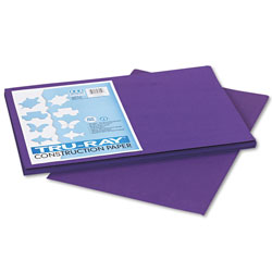Riverside Paper Construction Paper, 76 lbs., 12 x 18, Purple, 50 Sheets/Pack