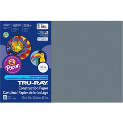 Pacon Construction Paper, 12 x 18, Slate, 50 Sheets