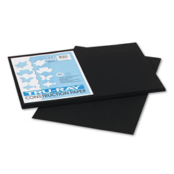 "Riverside Paper Recycled Construction Paper, 12"" x 18"", Black"