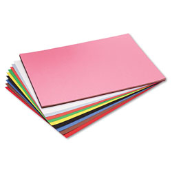 Riverside Paper Construction Paper, 76#, 25% Sulphite, 12 x 18, Assorted, 50 Sheets/Pk