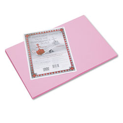 "Riverside Paper Construction Paper, 12"" x 18"", Pink"