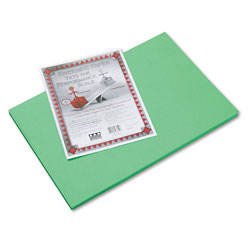"Riverside Paper Construction Paper, 12"" x 18"", Green"